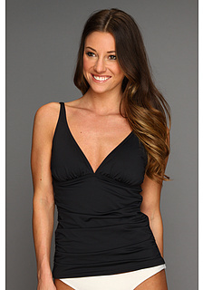 Tommy Bahama Pearl Solids V-Neck Tankini Top