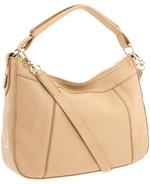 Cole Haan Linley Small Rounded A Line Hobo (Sandstone) - Bags and Luggage