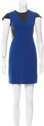 Yigal Azrouel Cut25 by Leather Paneled Mini Dress
