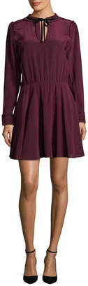 The Kooples Silk Ruffle Dress