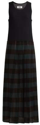 MM6 MAISON MARGIELA Mesh Tank Top Dress - Womens - Black Multi