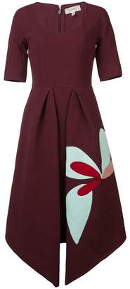 DELPOZO pointed hem dress