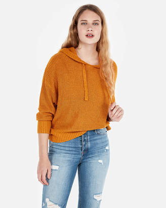 Express Hi-Lo Hooded Sweater
