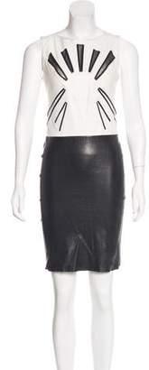 Jitrois Leather Sheath Dress