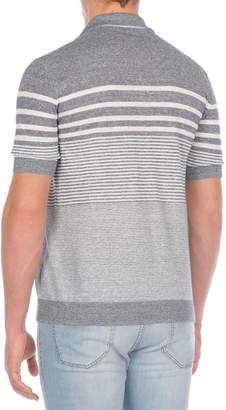 Multi-Striped Linen-Blend Polo Shirt