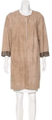 Lafayette 148 Short Suede Coat