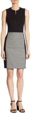 Akris Punto Houndstooth Panel Sheath Dress