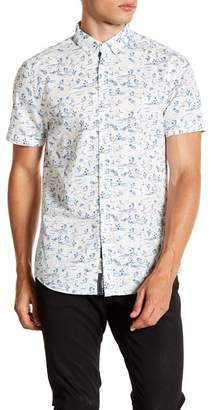 Report Collection Tropical Print Short Sleeve Slim Fit Shirt