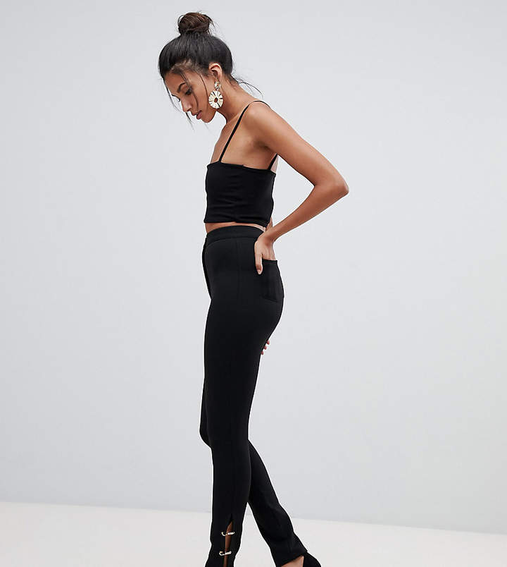 ASOS Tall ASOS DESIGN Tall skinny pants with safety pin hem
