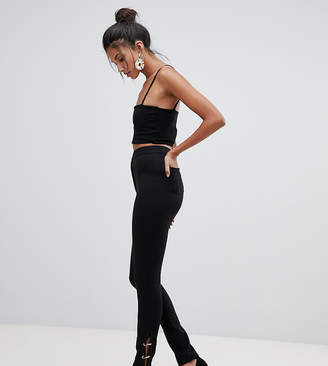 Asos Tall DESIGN Tall skinny trousers with safety pin hem