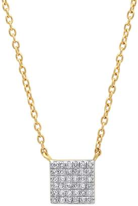 ERINESS - Pave Diamond Square Necklace