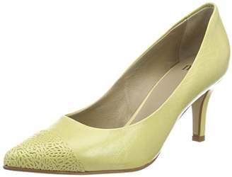 Nica Noe Antwerp Women's Pump Closed Toe Heels, Yellow 703-1