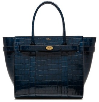 Mulberry Bayswater Leather Satchel - Blue $1,895 thestylecure.com