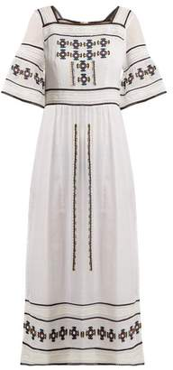 Talitha Collection Sarafina Embroidered Cotton Dress - Womens - White