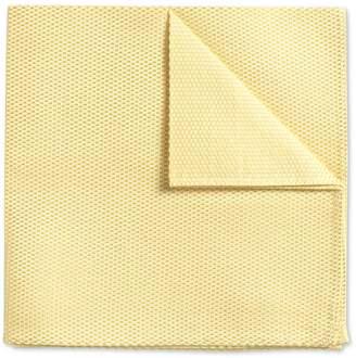 Charles Tyrwhitt Light Yellow Plain Classic Silk Pocket Square