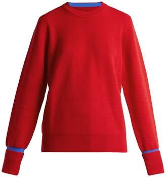 Maison Margiela Round-neck colour-block wool-blend sweater