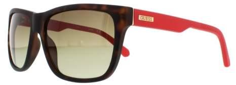 Guess Men's GU6838 GU/6838 56F Havana/Red Sunglasses 57mm