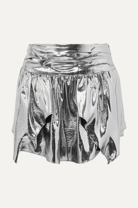 Isabel Marant Kira Metallic Silk-blend Mini Skirt - Silver