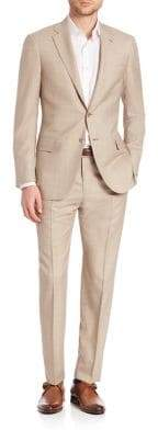 Isaia Tan Wool Suit