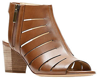 Clarks Artisan Leather Mid-Heel Peep-Toe Sandals - Deloria Ivy