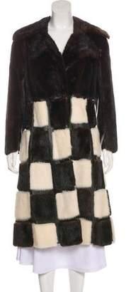 Fur Patterned Mink Coat