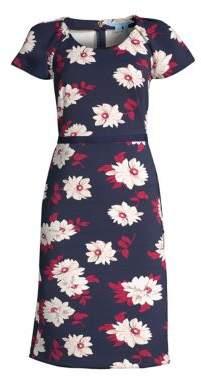 Draper James Floral Flutter Sleeve A-line Dress