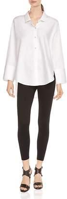 Halston Button-Down Shirt with Oversize Cuffs
