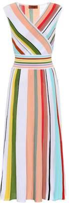 Missoni Striped crochet cotton midi dress