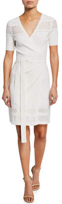 Diane von Furstenberg Ivy Knit Short-Sleeve Wrap Dress