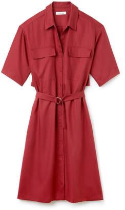 Lacoste (ラコステ) - ベルト付き ピケ シャツドレス