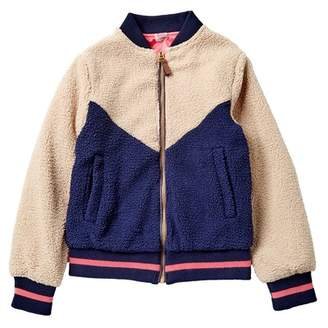 Jessica Simpson Colorblock Faux Shearling Reversible Jacket (Big Girls)