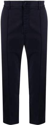 YMC straight piped-seam trousers