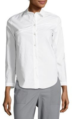 Carven Button-Down Cotton Shirt