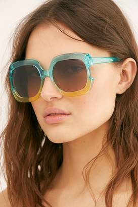 Gradient Real Deal Oversized Sunglasses