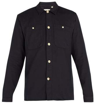 Oliver Spencer Eltham Cotton Twill Shirt - Mens - Navy