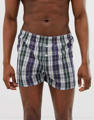 Asos Design DESIGN woven boxers in check