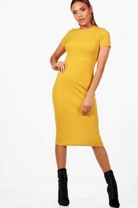 boohoo Fitted Midi Tailored Dress