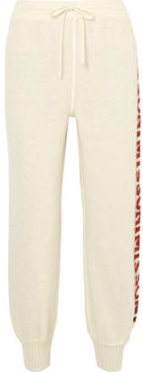 Missoni Intarsia Knitted Track Pants - White