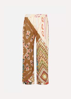 Chloé Printed Silk Wide-leg Pants - Bronze