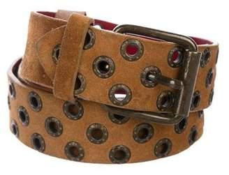 Dolce & Gabbana Suede Grommet Belt