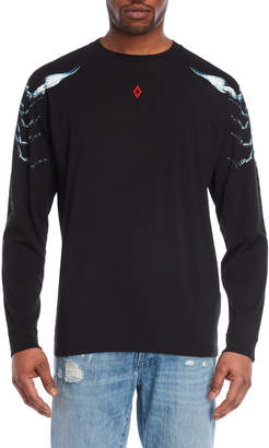 Marcelo Burlon County of Milan Black Long Sleeve Tee