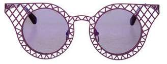 House of Holland Cagefighters Cat-Eye Sunglasses