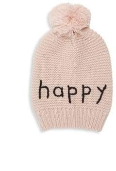 Hat Attack Happy Motto Knit Beanie