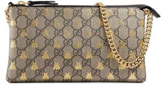 6e4d743f3fc8d3 Gucci Linea Bee GG Supreme Wrist Wallet