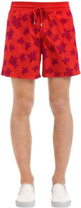 Vilebrequin Moorea Turtles Printed Swim Shorts