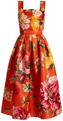 Dolce & Gabbana Floral-print square-neck dress