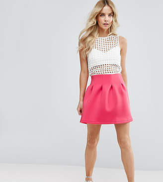 Asos Mini Prom Skirt In Scuba