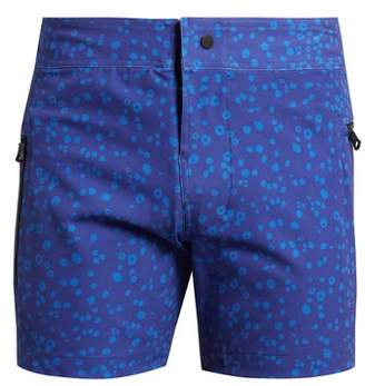 Everest Isles - Draupner Coral Print Swim Shorts - Mens - Blue