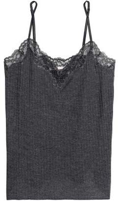 Stella McCartney Lace-Trimmed Ribbed Jersey Camisole
