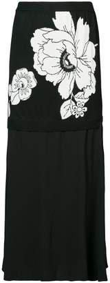 Moschino flower midi skirt